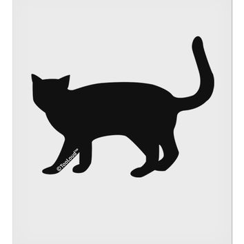 "Cat Silhouette Design 9 x 10.5"" Rectangular Static Wall Cling by TooLoud"