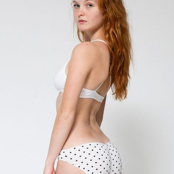 rsa8326pd - Polka Dot Cotton Spandex Jersey Shirred Back Panty