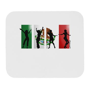 Mexican Flag - Dancing Silhouettes Mousepad by TooLoud