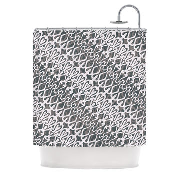"Miranda Mol ""Silver Lace"" Shower Curtain"
