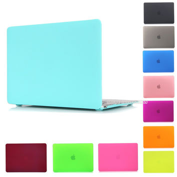 Matte Rubberized/Crystal Clear Hard Case Cover For Macbook Pro 13.3 15.4 Pro Retina 12 13 15 inch Macbook Air 11 13 Laptop Case
