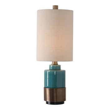 Rema Turquoise Table Lamp