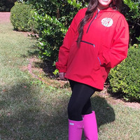 Lilly Pullitzer Monogrammed Pack N Go Classic Pullover Jacket