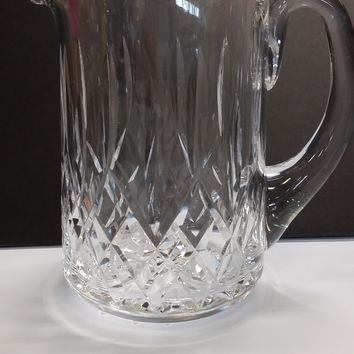 Signed Waterford crystal Lismore pitcher