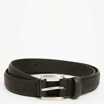 ASOS Smart Leather Belt with Buckle Tab