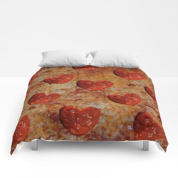 Love Pizza Comforters by UMe Images