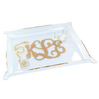 Monogrammed Acrylic Catch All Tray