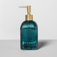 Glass Soap/Lotion Dispenser Teal Blue - Opalhouse™