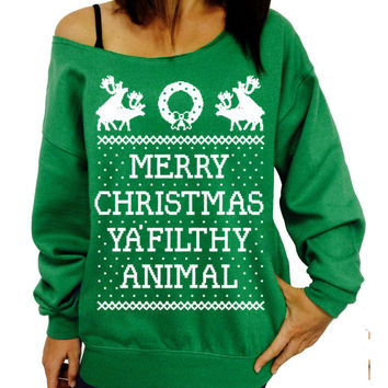Christmas Pattern Letter Printed T-Shirt