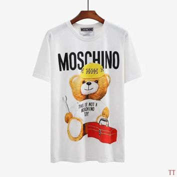 Moschino Short Round Collar Short Sleeve T-shirts #2965681