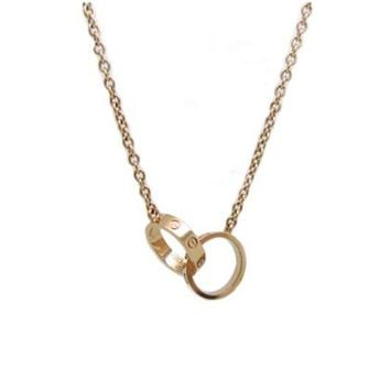 BeadyBoutique Love Necklace - Yellow Gold