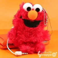 Characters Speaker Plush Doll Cell Phone Charm (Elmo)