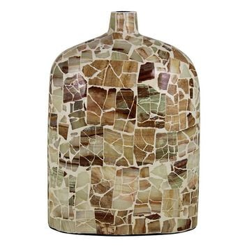 Mother of Pearl Mosaic Vase