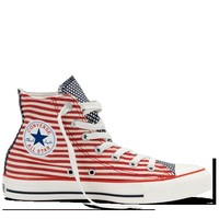 Red White All Star Flag Hi-Top Shoes : Converse Shoes | Converse.com