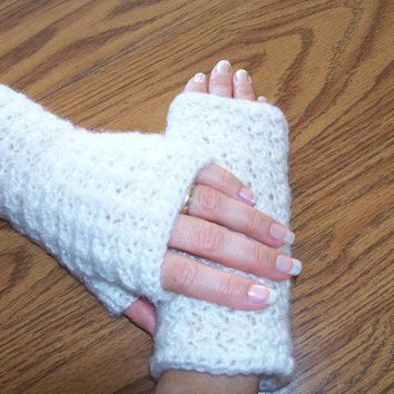 Vanilla Fingerless Gloves or Handwarmers (small), Arm Warmers, Texting Gloves