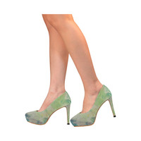 Painted canvas Women's High Heels (Model 044) | ID: D2027863