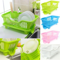 Dish Rack Great Kitchen Bowl/Cup/Spoon/Fork Drainer Drying Rack & Washing Holder & Basket Sorting Tray