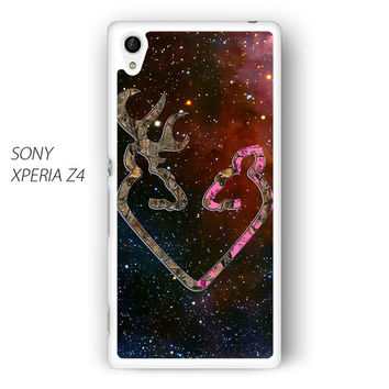 Browning Style Heart Buck Doe Deer Sticker Decal Duck Hunting for Sony Xperia Z1/Z2/Z3 phonecases