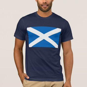 T Shirt with Flag of Scotland.