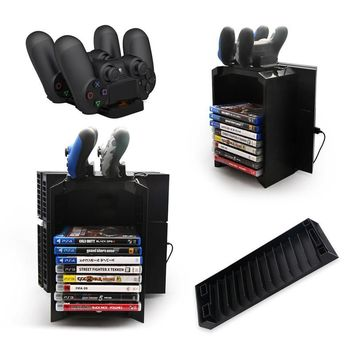 Multi-functional Disk Storage with Micro USB Cable For PS4 Controller