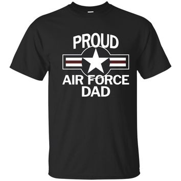 Proud US Air Force Dad with Vintage Aircraft Roundel T-Shirt