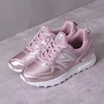 New Balance Metal Leather Women Sneaker - Rose Gold-1
