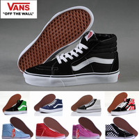High Top Old Skool vans Canvas Shoes Sk8 Hi Classic White Black Brand Women And Mens Skateboarding Sneakers Casual Shoes