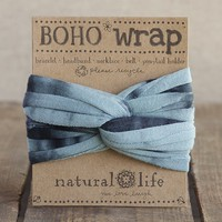Aqua  &  Black  Tie-Dye  Boho  Wrap  From  Natural  Life