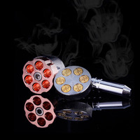 Revolver Pipe Weed Grinder Six Shooter Pipe Smoking Creative Tobacco Pipe Herb Grinder Smoking Pipes The Grinder