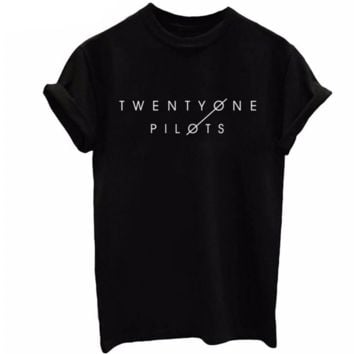 TWENTYONE PILOTS Fashion leisure loose T-shirt