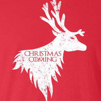 Christmas is Coming Reindeer Game Santa Christmas Jingle Bells swag T-shirt tee Shirt TV show inspired Hot Funny Mens Ladies cool MLG-1114