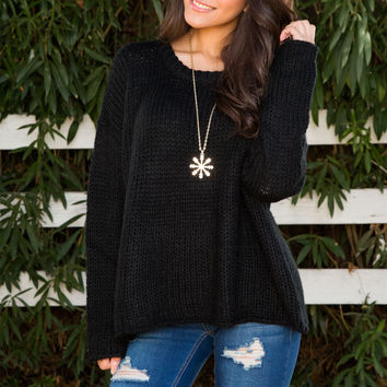 Wynne Oversized Sweater - Black