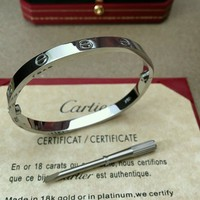 Authentic Cartier Love Bangle Bracelet 18k white Gold size 16