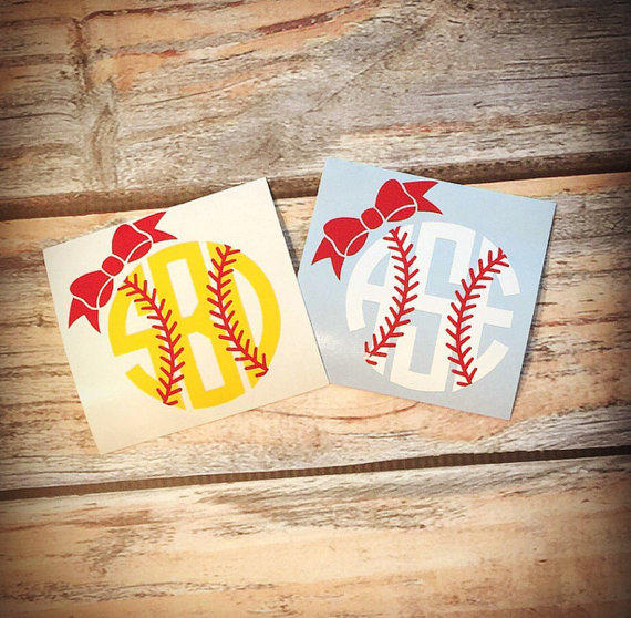 Baseball Bow Monogram Or Softball Bow From It S Mine Designs