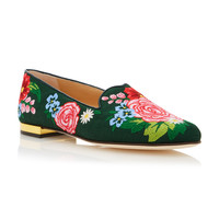 M'O Exclusive Rose Garden Canvas Slippers | Moda Operandi