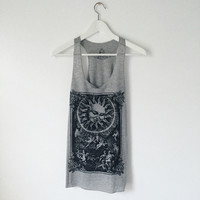 Sun And Angels Graphic Tank (Grey)