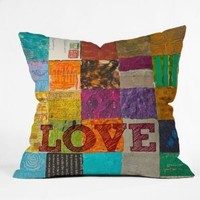 DENY Designs Elizabeth St Hilaire Nelson Love Throw Pillow, 16-Inch by 16-Inch: Home & Kitchen