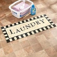 "48"" Laundry Decorative Cushioned Kitchen Floor Runner Rug Foam Rubber Backing"