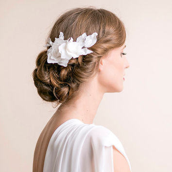 Lily Magnolia Flower Hair Piece - Bridal Hair Piece Flower Lace - Wedding Hair Piece - Bridal Hair Accessories