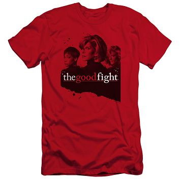 The Good Fight Premium Canvas T-Shirt Cast Red Tee