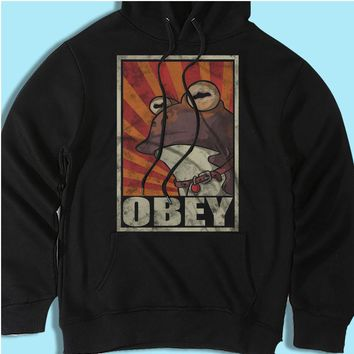 Obey The Hypnotoad Men'S Hoodie