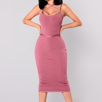 Berlin Bandage Dress - Marsala