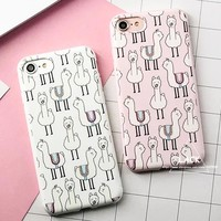 LACK Fashion Cute Cartoon Alpaca Case For iphone 7 Case For iphone 7 Plus Cover Luxury Soft TPU Phone Cases Funny Animal Capa