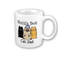 World's Best Cat Dad Mug from Zazzle.com