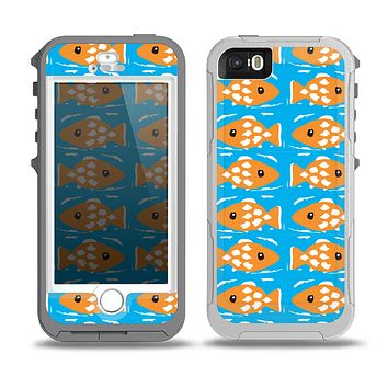 The Seamless Vector Gold Fish Skin for the iPhone 5-5s OtterBox Preserver WaterProof Case