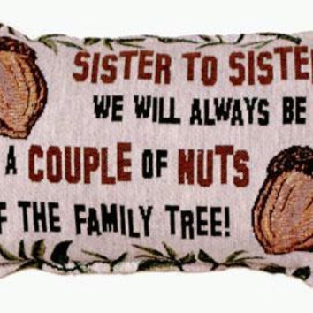 2 Sister Throw Pillows - One Side Design