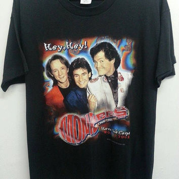 Sale Vintage 90s Hey Hey The Monkees 1966-1996 30th Anniversary Tour Concert TShirt