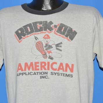 80s Rock On American Application Systems t-shirt Large