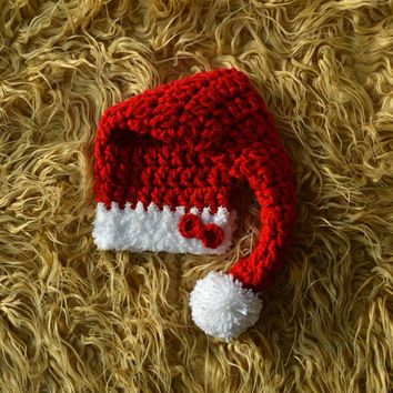 Crochet Baby Santa Hat Newborn Santa Hat Photo Prop