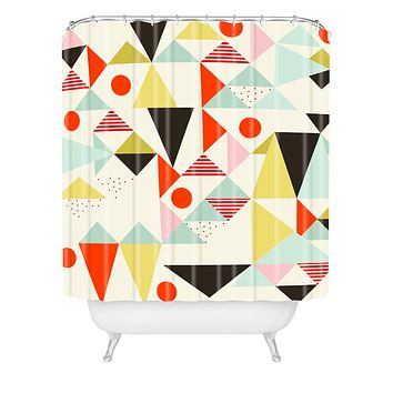 Hello Twiggs Modern Art Shower Curtain